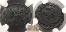 Ancient Coins - Crispus, as Caesar 317-326 A.D. Follis Trier Mint NGC Choice AU