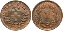 World Coins - SWITZERLAND: 1936 2 Rappen