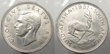 SOUTH AFRICA: 1951 5 Shillings
