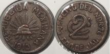 World Coins - MEXICO: Jalisco 1915 Revolutionary coinage. 2 Centavos