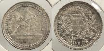 World Coins - GUATEMALA: 1880 1/2 Real #WC63446