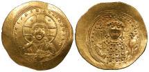 Ancient Coins - Constantine IX 1042-1055 A.D. Histamenon Nomisma Constantinople Mint EF