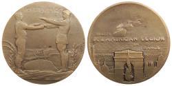 World Coins - FRANCE Paris Mint. by Pierre-Victor Dautel (signed) 1927 AE 45mm. Medal AU/UNC