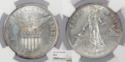 World Coins - PHILIPPINES 1921 50 Centavos NGC MS-62
