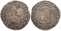 World Coins - GREAT BRITAIN James I ND (1623-1624)-trefoil Halfcrown VF