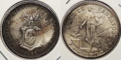 World Coins - PHILIPPINES: 1944-D Struck at Denver \Mint. 20 Centavos