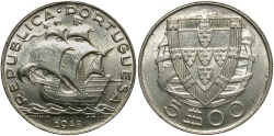 World Coins - PORTUGAL: 1848 5 Escudos