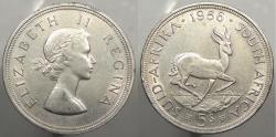 World Coins - SOUTH AFRICA: 1956 5 Shillings