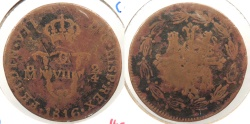 World Coins - MEXICO: 1816 2/4 Senal (1/4 Real)