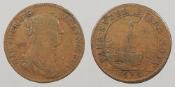 World Coins - FRANCE: 1673 Maria Theresa, wife of Louis XIV. Jeton