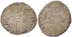 World Coins - ITALIAN STATES Venice Francesco Foscari, 65th Doge 1423-1459 Grosso (Grossetto) EF