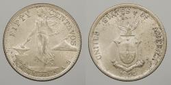 World Coins - PHILIPPINES: 1944-S 50 Centavos