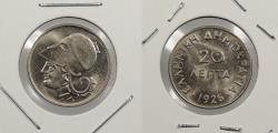 World Coins - GREECE: 1926 20 Lepta