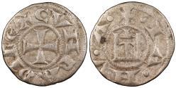 World Coins - ITALIAN STATES Genoa Conrad I-III 1139-1339 Denaro VF