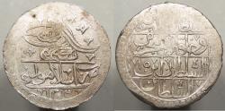 World Coins - OTTOMAN EMPIRE: Turkey 1203 Yr 15 (1803) Selim III; Islambol Mint Yuzluk