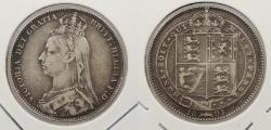 World Coins - GREAT BRITAIN: 1891 Victoria Shilling