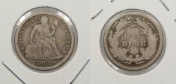 Us Coins - 1861 Seated Liberty 10 Cents (Dime)