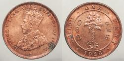 World Coins - CEYLON: 1923 Cent