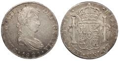 World Coins - MEXICO Ferdinand VII 1821-Mo JJ 8 Reales EF