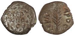 Ancient Coins - Judaea Roman Procurators Porcius Festus, under Nero 59-62 A.D. Prutah VF