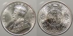 World Coins - INDIA: 1919-C George V Rupee