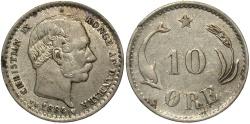 World Coins - DENMARK: 1884 10 Ore