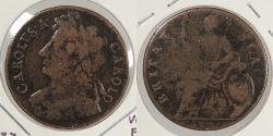World Coins - ENGLAND: 1675 Charles II Halfpenny