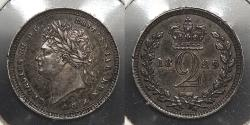 World Coins - GREAT BRITAIN: 1829 Maundy issue. Twopence