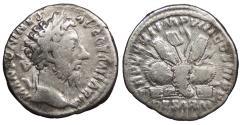 Ancient Coins - Marcus Aurelius 161-180 A.D. Denarius Rome Mint Fine
