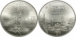 World Coins - FINLAND: 1971 10th European Athletic Championships 10 Markkaa