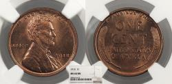 Us Coins - 1918 Lincoln 1 Cent NGC MS-64 BN