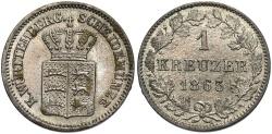 World Coins - GERMAN STATES: Wurttemberg 1863 1 Kreuzer