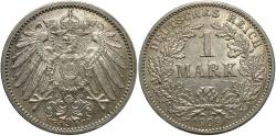 World Coins - GERMANY: 1909-G 1 Mark