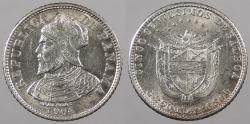 World Coins - PANAMA: 1904 Philadelphia Mint 5 Centesimos