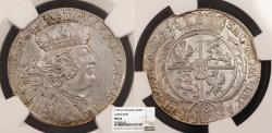 World Coins - POLAND August III 1755-EC 18 Groszy (Tymph) NGC MS-62