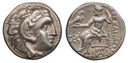 Ancient Coins - Kings of Macedon Alexander III (The Great) 336-323 B.C. Drachm Near EF