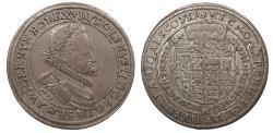 World Coins - GERMAN STATES Alsace (Elsass) Rudolph II 1603 Thaler (Taler) Near EF