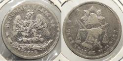 World Coins - MEXICO: 1884 25 Centavos