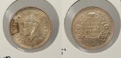 World Coins - INDIA: 1945(b) George VI 1/4 Rupee