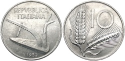 World Coins - ITALY: 1952 10 Lire