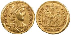 Ancient Coins - Gratian 367-383 A.D. Solidus Trier Mint EF