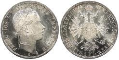World Coins - AUSTRIA Franz Josef I 1861-A Florin BU