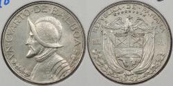World Coins - PANAMA: 1947 1/4 Balboa