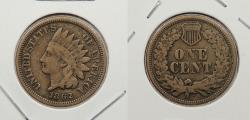 Us Coins - 1862 Indian Head 1 Cent