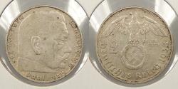 World Coins - GERMANY: 1938-G 2 Mark