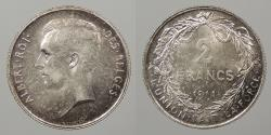 World Coins - BELGIUM: 1911 2 Francs
