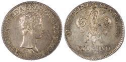 World Coins - ITALIAN STATES Leopold II of Austria 1828 Fiorino AU/UNC