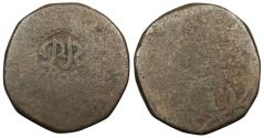 World Coins - INDIA Miguel ND (1831) Tanga (60 Reis) Near VF
