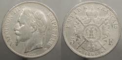 World Coins - FRANCE: 1868-BB 5 Francs