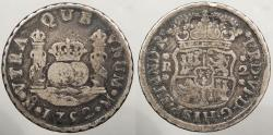World Coins - MEXICO: Spanish Colonial 1752-Mo 2 Reales